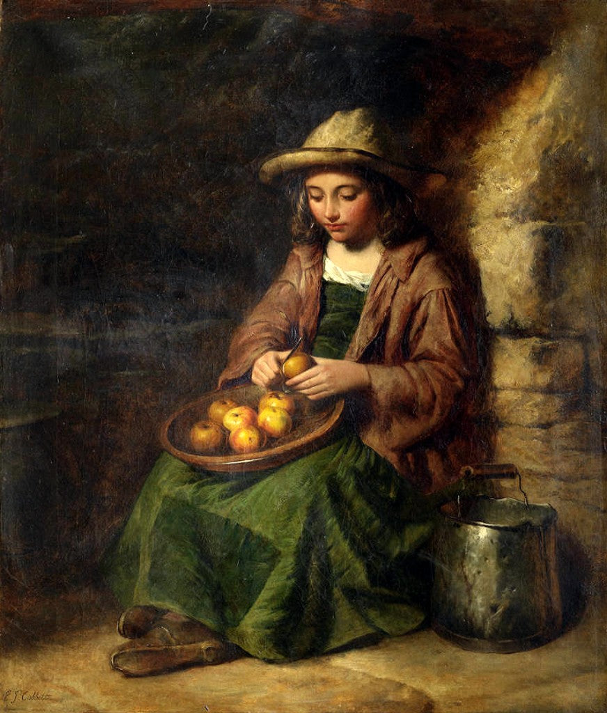 EDWARD JOHN COBBETT Peeling Apples 1