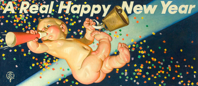 JC Leyendecker Happy New Year