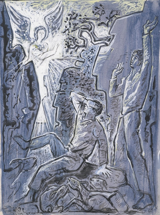 John Craxton THE ANGEL APPEARING TO THE SHEPHERDS jpeg