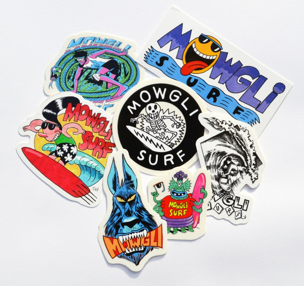Mowgli Surf Stickers