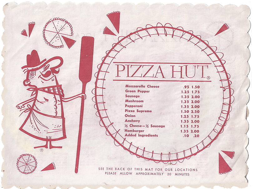 Pizza Hut Place Mat