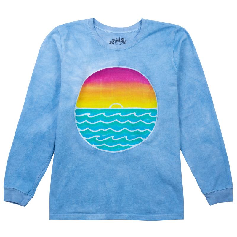Ocean Sunset - Sky Blue