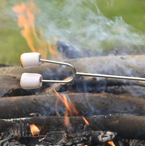 Camp Fire Roasting Forks - Telescopic [Extends from 11 to 44 Inches] - 4 Pack