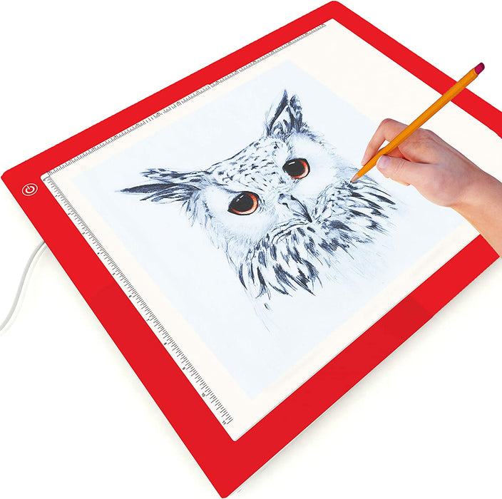 Picture/Perfect Best Light Box For Tracing - Tattoo, Diamond Painting, Weeding Vinyl - Large A3 Light Pad - 17x14 inch, Hi, Mid & Low Brightness [Red]
