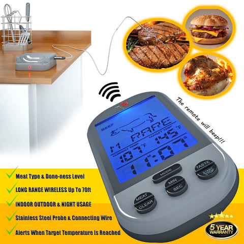 Image of Wireless Meat Thermometer By Kona®