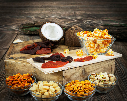 BBQ Snacks Gift Box - Gourmet Jerky, Nuts, and Popcorn Collection