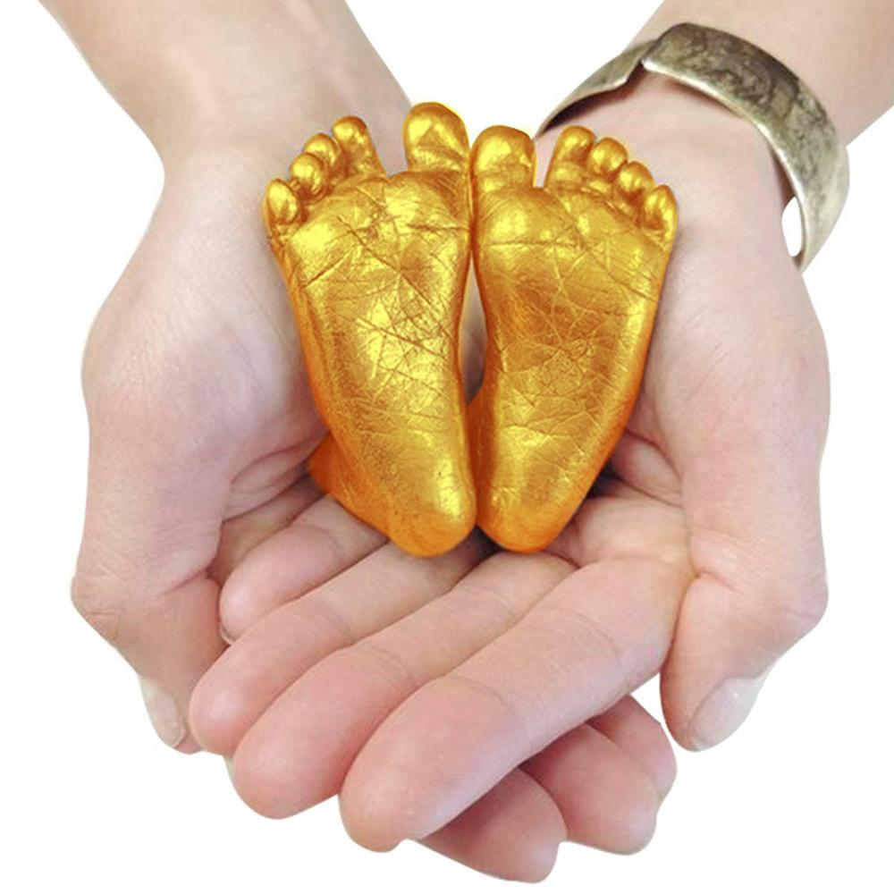 3D Hand & Foot Print Mold for Baby - Powder Plaster Casting Kit Hand print & Footprint Gift for Mom