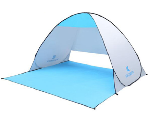 Image of Instant Open Beach Tent with Carrying Case - Automatically Pops Up, Holds 2-3 Person