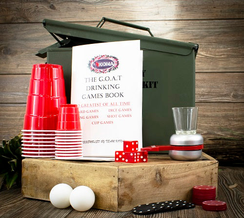 Be The G.O.A.T. - Drinking Games & Poker Party Ammo Can Gift Set