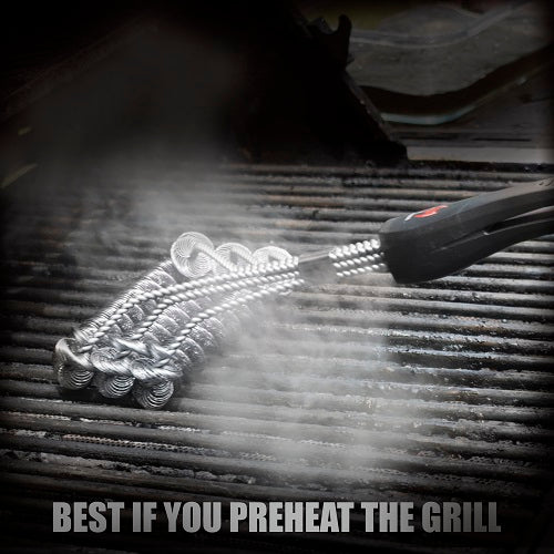 "Safe/Clean Bristle-Free Grill Brush - 18"" Stainless Steel"