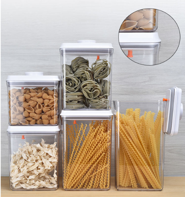 Pop&Lock Air Tight Food Storage Containers - Pop 5-Piece Premium Pantry Space Saving Canisters