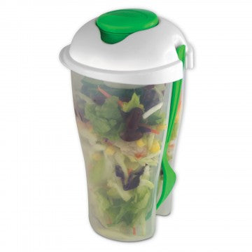 Fresh Salad to Go Container Set with Fork and Dressing Holder- 2 Pack