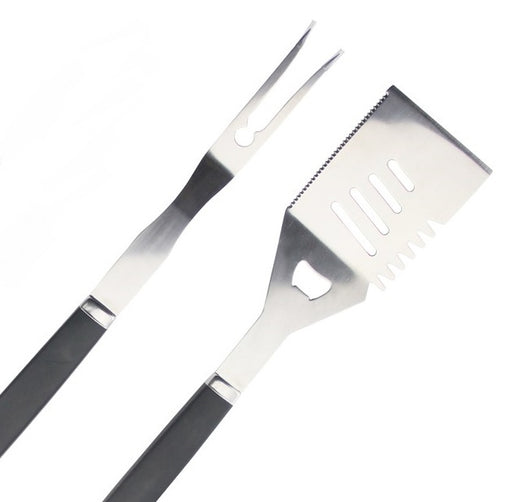 Kona Essentials Grill Tool Set:  Stainless Steel Spatula + Grilling Fork