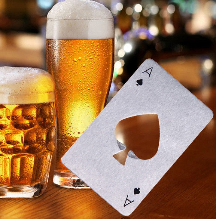 Ace Of Spades Bottle Openers - Set of 2