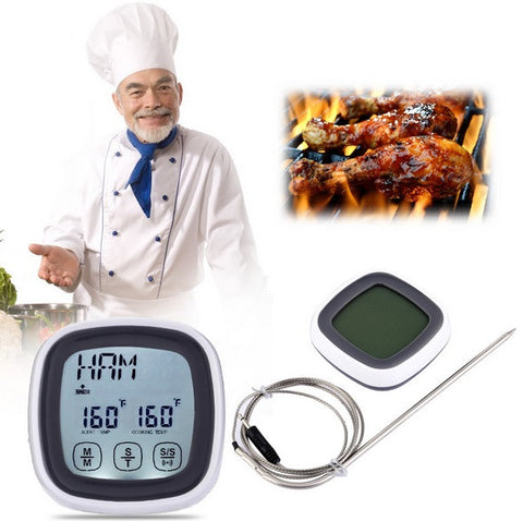 Touchscreen Digital Cooking Food Meat Thermometer for Smokers, Grills, Oven & BBQ
