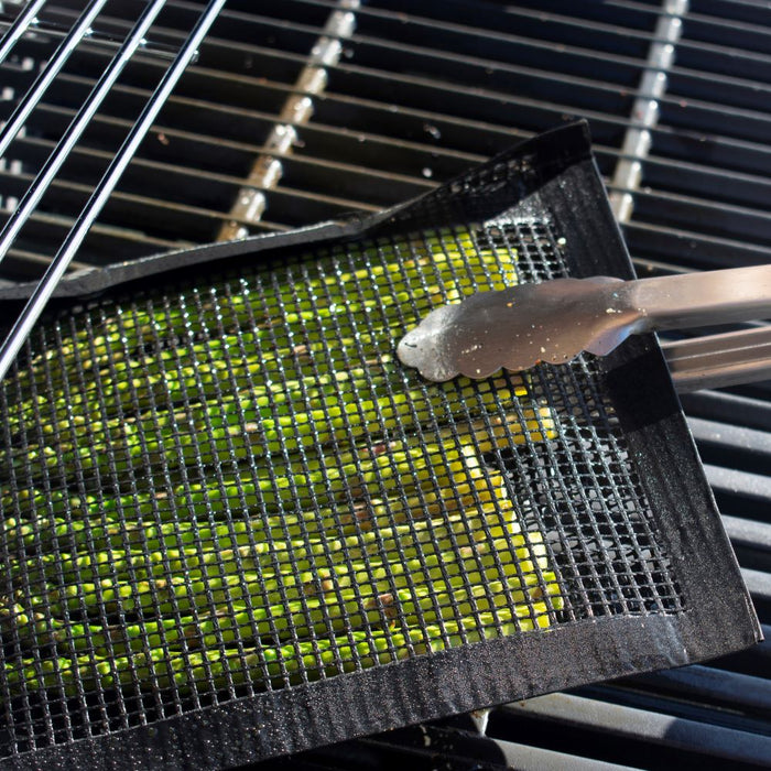 Kona Mesh Grill Bags - Non-Stick BBQ Grilling Bags for Veggies (Set of 2) - Reusable & Easy to Clean