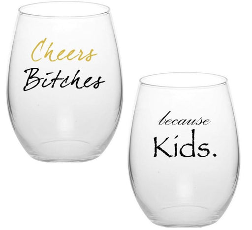 LOL Stemless Wine Glasses  (Set of 4)
