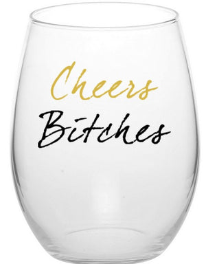 (Set Of 4) Cheers! Stemless Wine Glass