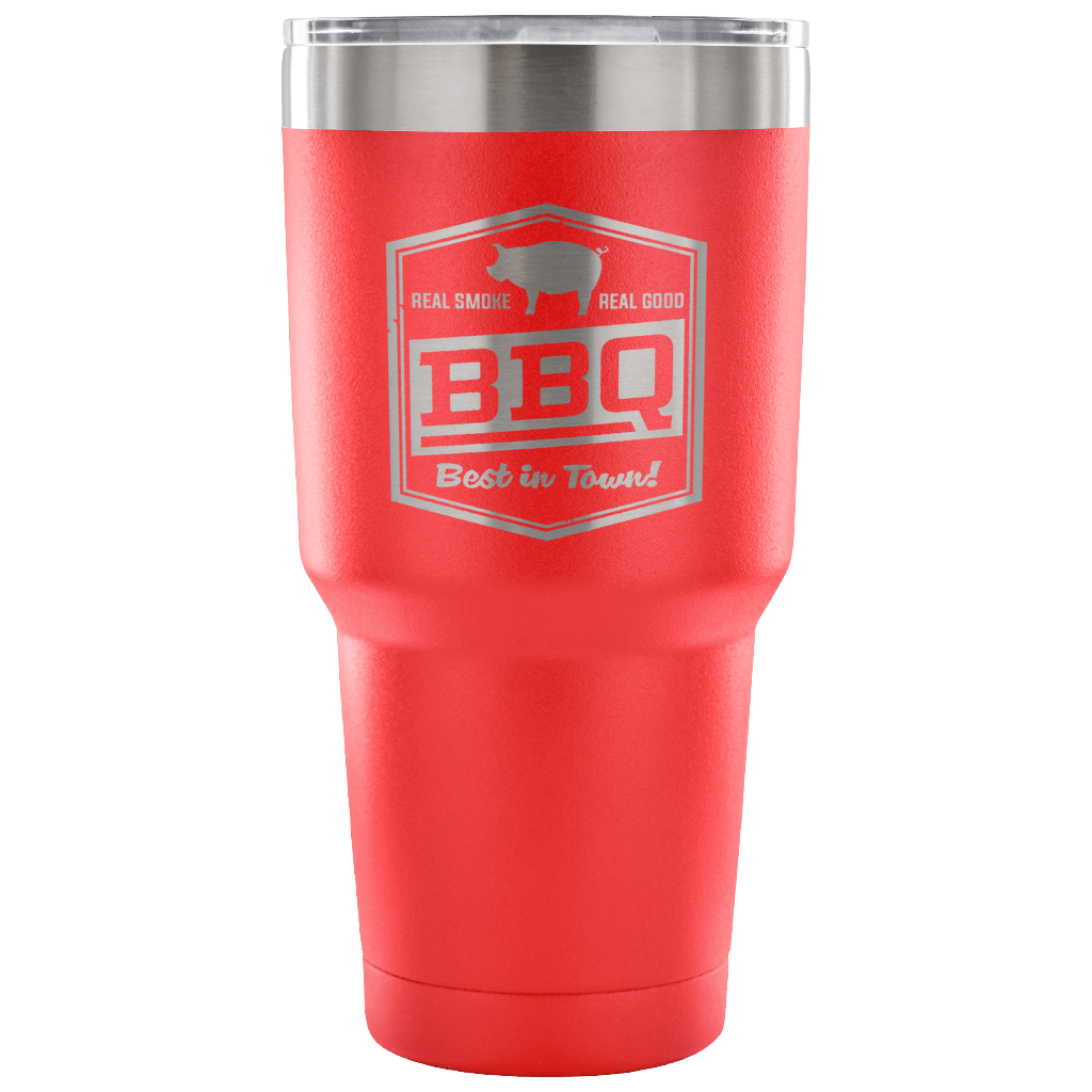 Best BBQ 30oz Stainless Steel Tumbler - Double Wall Vacuum Insulated