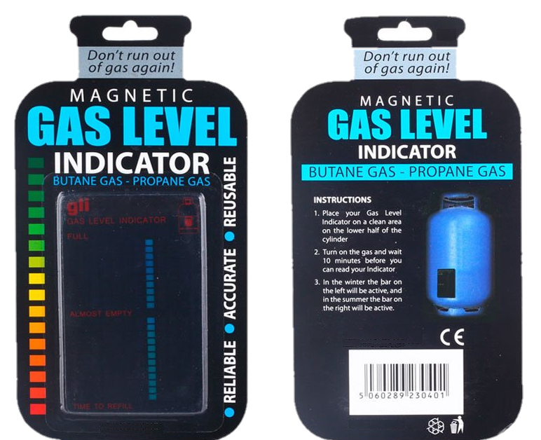 (Set of 2) Propane Fuel Level Indicator - Magnetic & Reusable