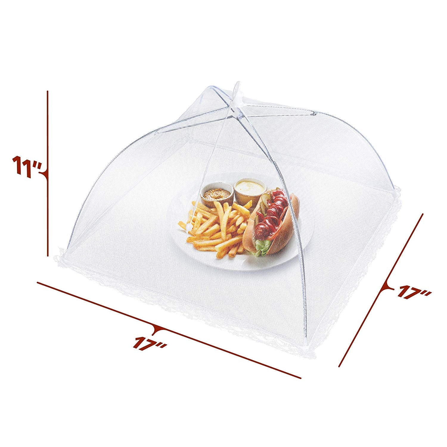 Pop-Up Food Tents - Keep Out Flies, Bugs, Mosquitoes - Set of 4