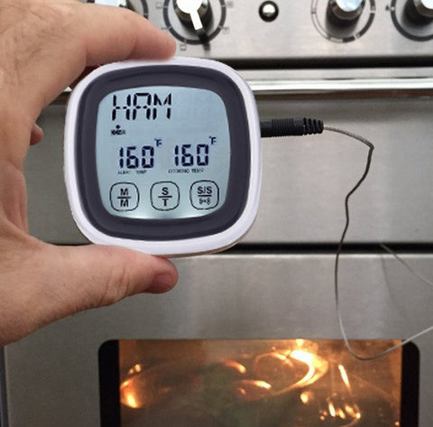Image of Touchscreen Digital Cooking Food Meat Thermometer for Smokers, Grills, Oven & BBQ