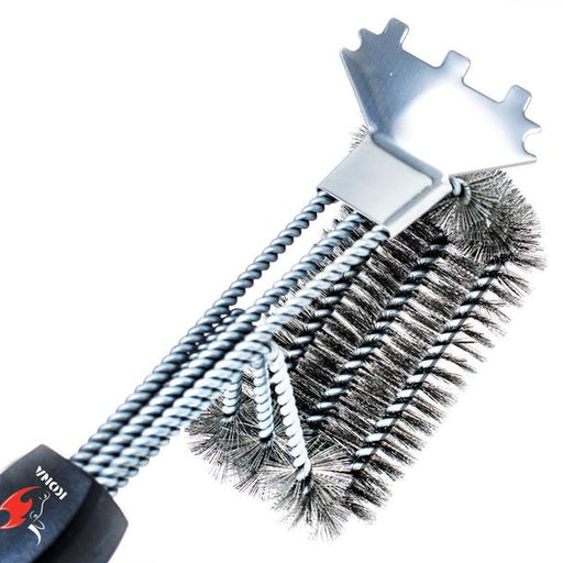 Kona SPEED/SCRAPER Grill Brush & Scraper with FLEX-GRIP Handle - Stainless Steel