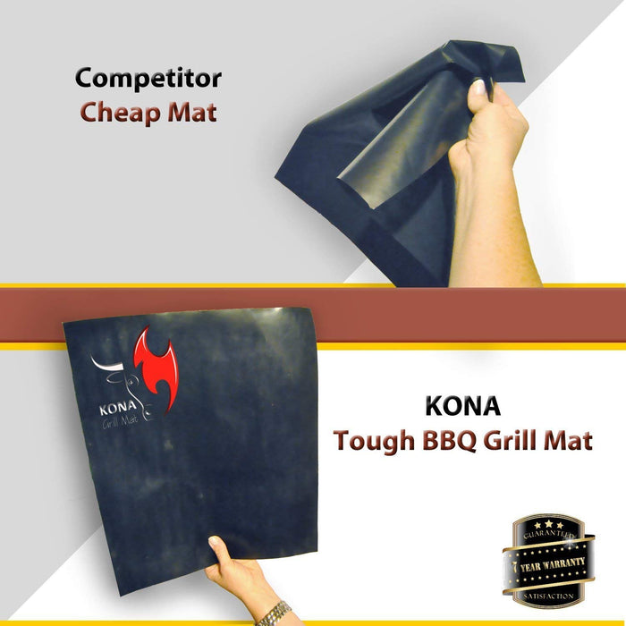 Kona Best Grill Tray with Custom Fit Best Grill Mat- The Ultimate Non-Stick Grilling Tray Combo!