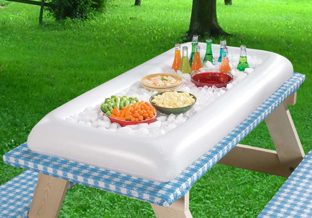 "Image of Inflatable Ice Serving Bar - Large Table Top Size - 52"" x 25"""