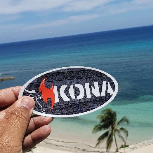 Kona Oval Sticker - Waterproof, UV Resistant, Dishwasher Safe