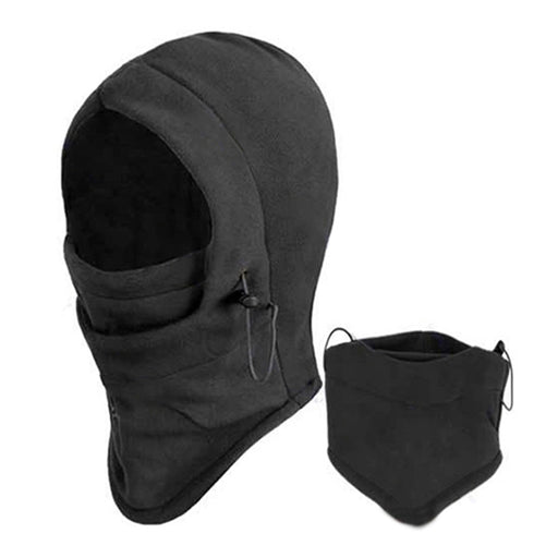 6-In-1 Tactical Heavyweight Balaclava Outdoor Hoodie Sports Mask