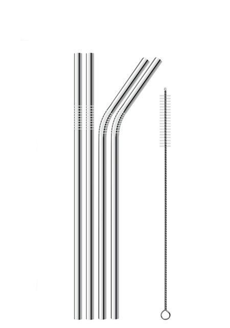 Stainless Steel Straws & Cleaner - Fits Yeti, Rtic, Tervis Tumblers