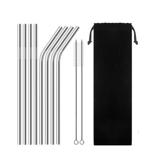 Image of Stainless Steel Straws & Cleaner - Fits Yeti, Rtic, Tervis Tumblers
