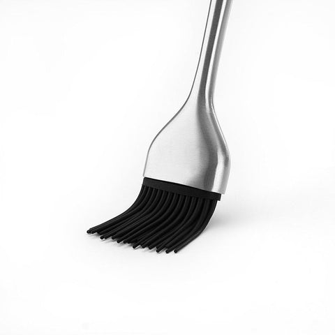 Stainless Steel Basting Brush With Silicone Bristles