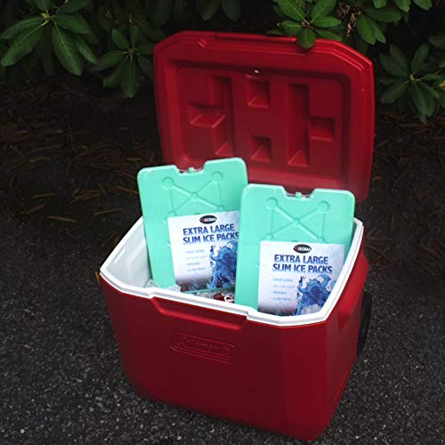 Kona Large Ice Packs for Coolers - Slim Space Saving Design - 25 Minute Freeze Time