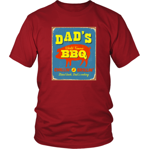 Image of Dad's BBQ  Premium Cotton T-Shirt | Short or Long Sleeve