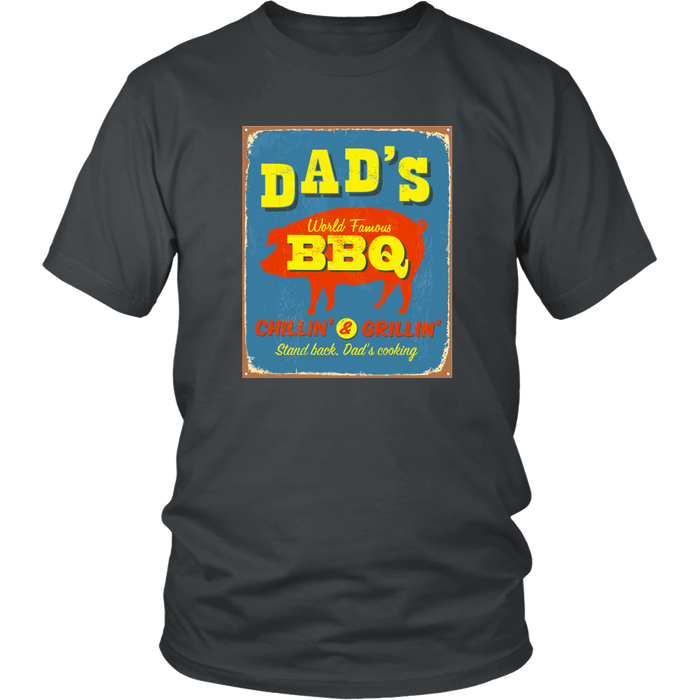 Dad's BBQ  Premium Cotton T-Shirt | Short or Long Sleeve