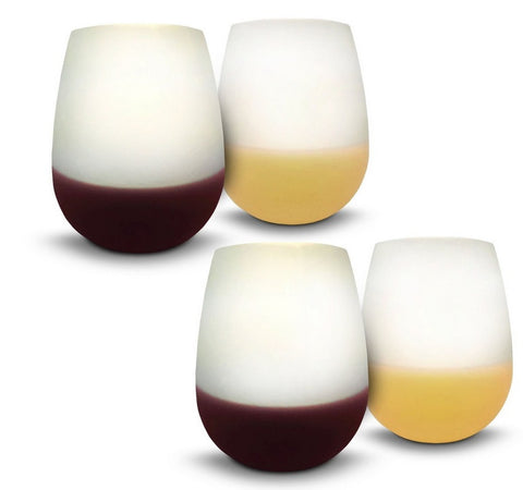 (Set Of 4) Unbreakable Traveling Wine Glasses