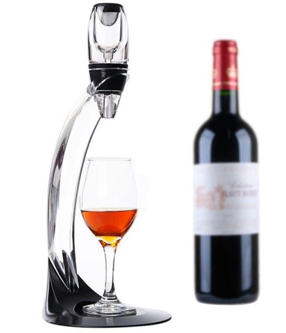 Traveler Wine Aerator with Stand - Premium Aerating Pourer and Decanter
