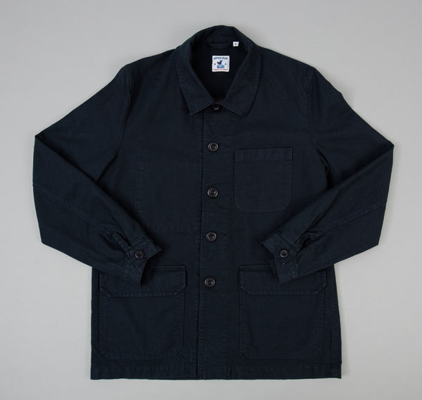 Travail Jacket, Navy Cotton Serge