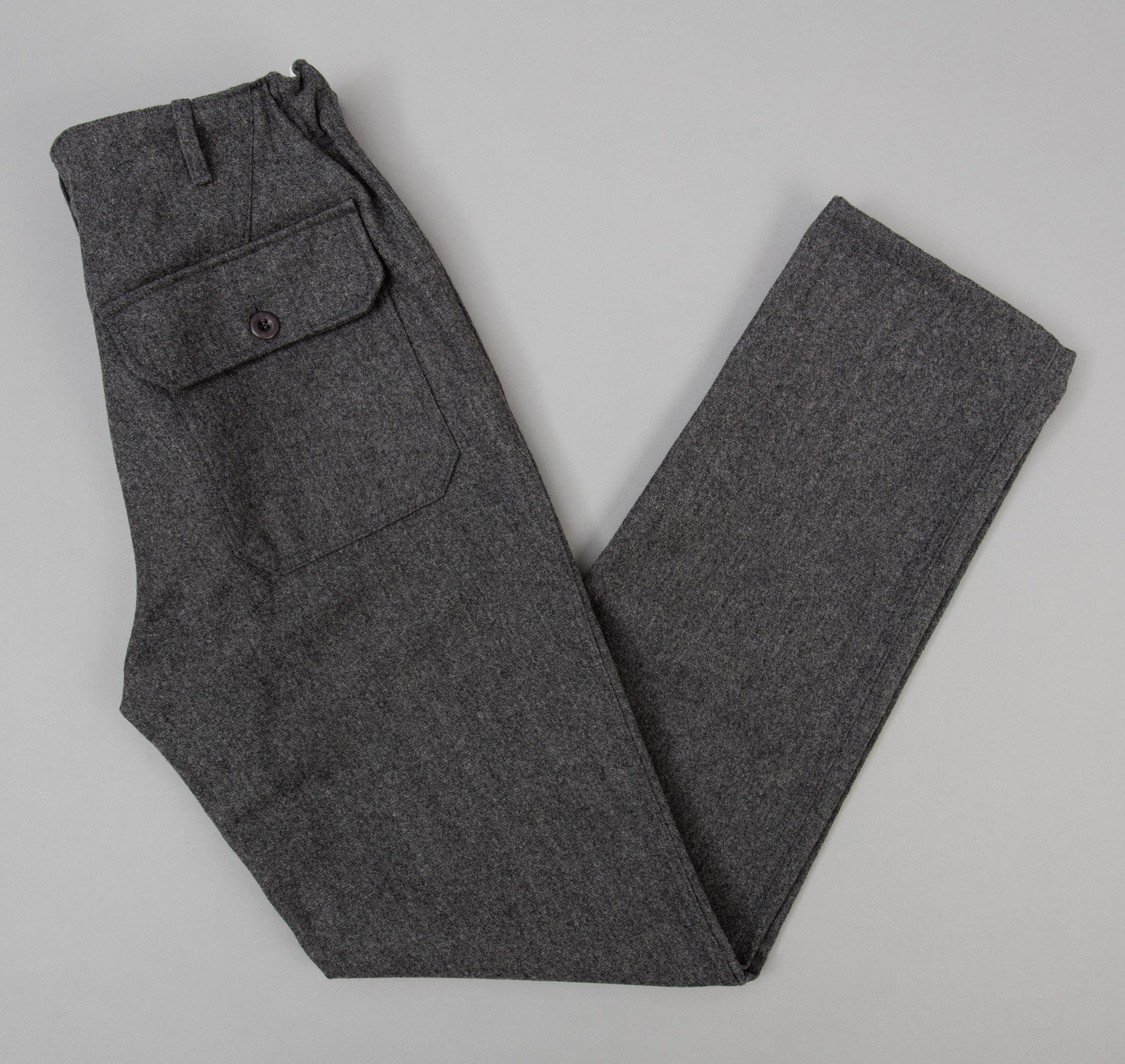 Petanque Trousers, Grey Wool / Cotton Serge