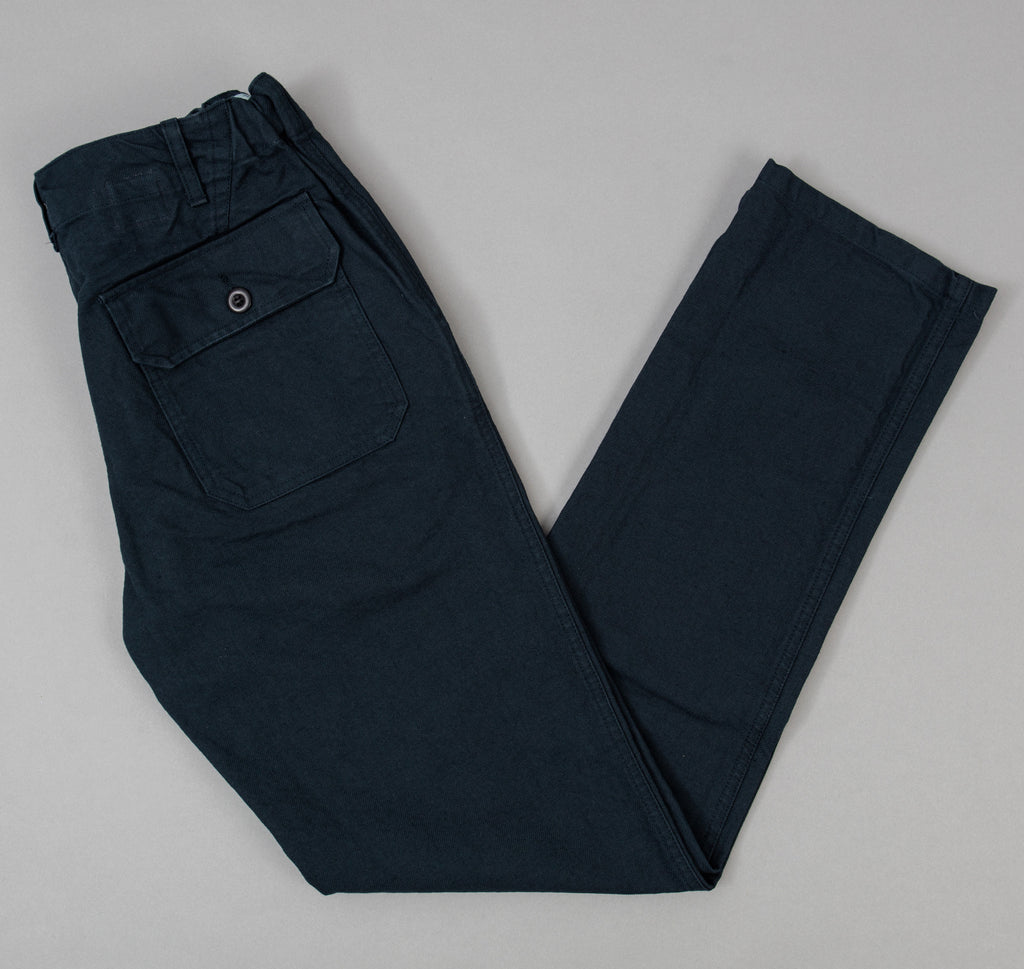 Petanque Trousers, Navy Cotton Serge