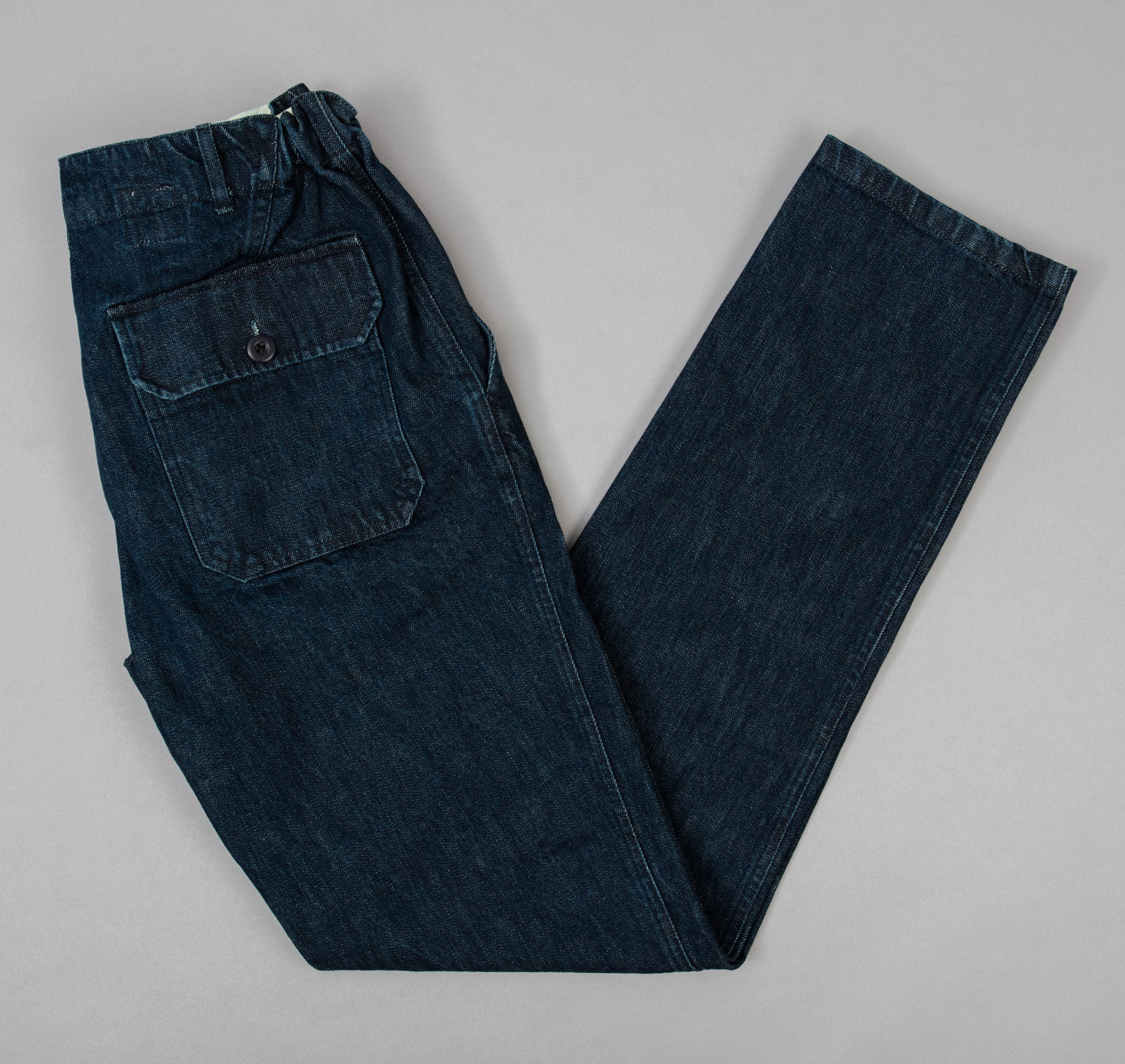 Petanque Trousers, Washed Denim