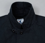 Villefranche Jacket, Navy Cotton Serge