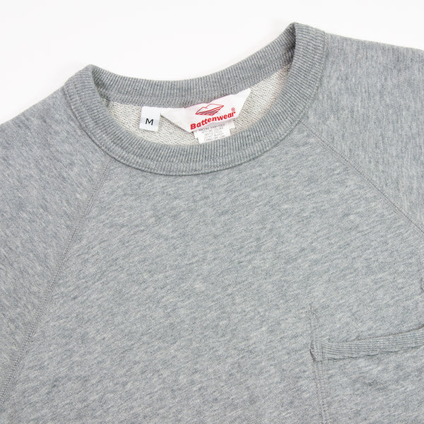 Battenwear - S/S Reach Up Sweatshirt, Heather Grey