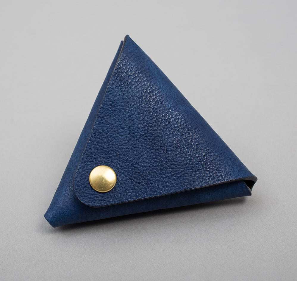 Indigo Leather Coin Case