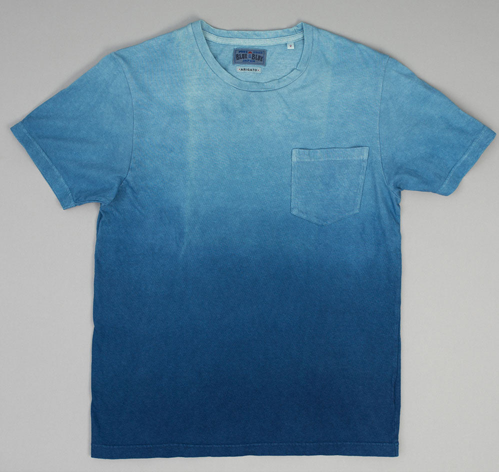 Blue Blue Japan - Gradation Dyed Slub Yarn Pocket T-Shirt, Pure Indigo -