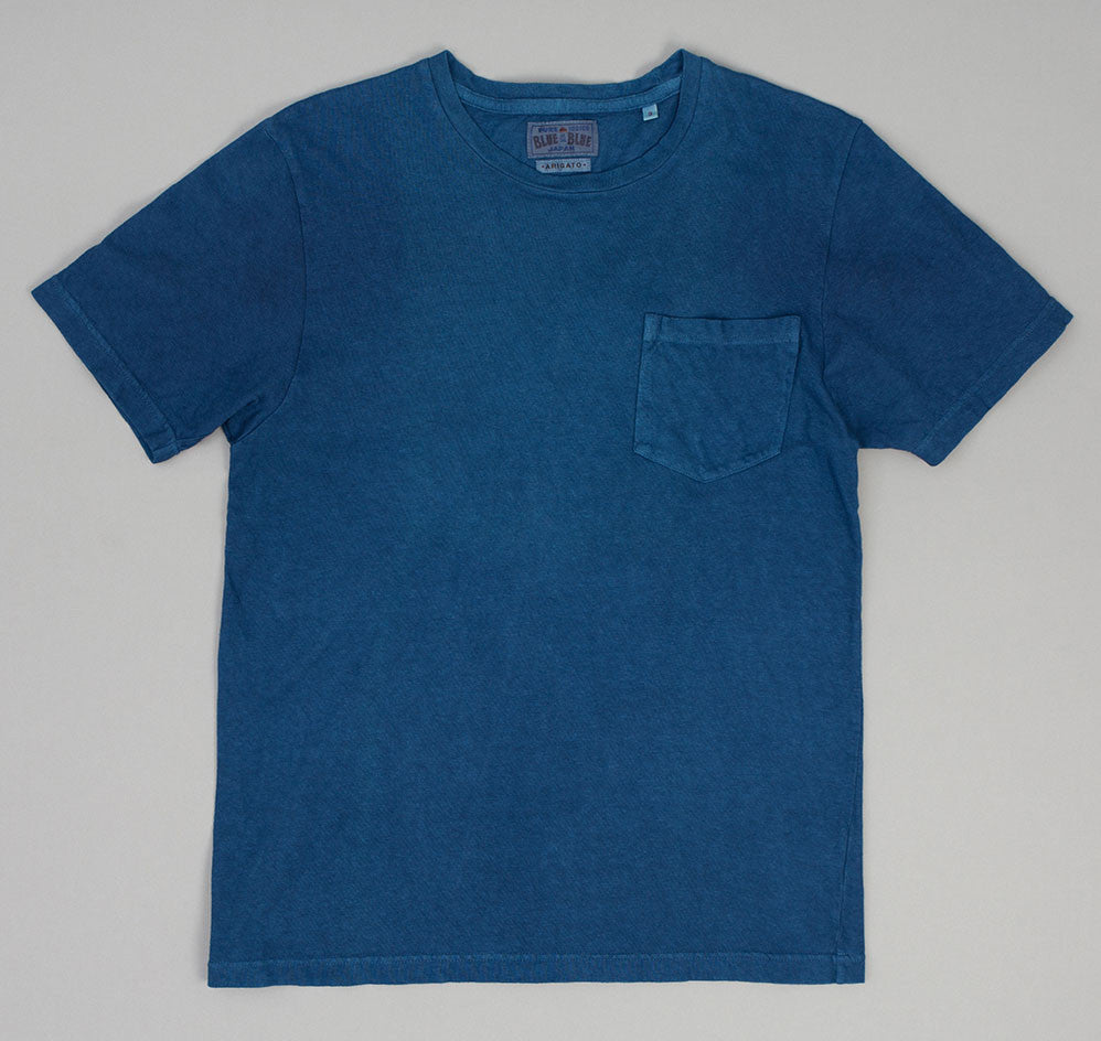 Blue Blue Japan - Slub Yarn Short Sleeve Pocket T-Shirt, Dark Indigo -
