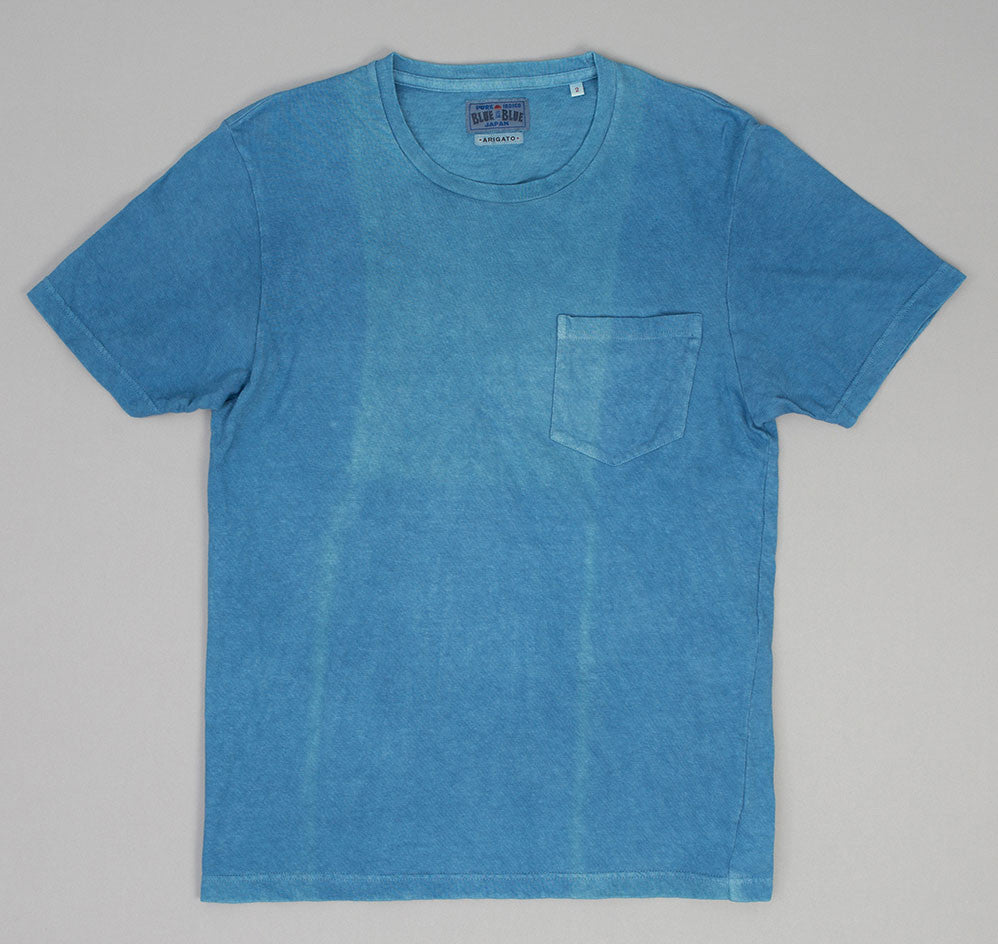 Blue Blue Japan - Slub Yarn Short Sleeve Pocket T-Shirt, Light Indigo -