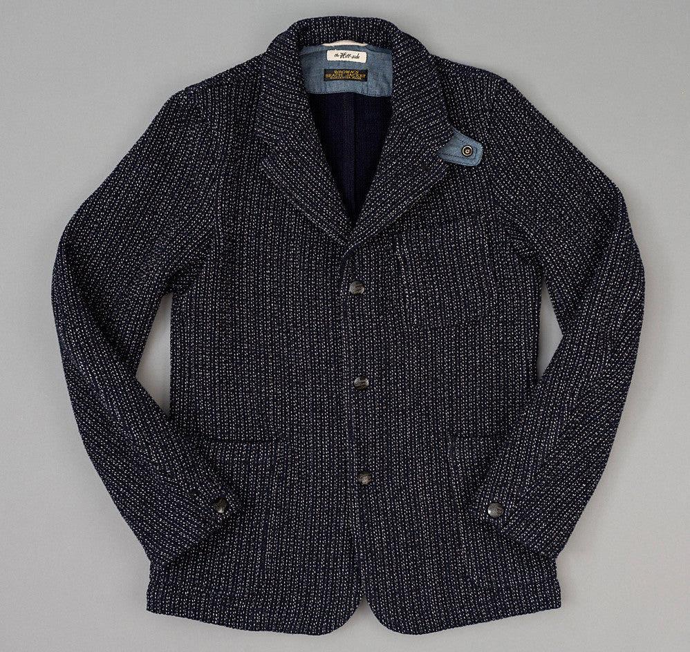 The Hill-Side Beach Cloth Tailored Jacket, Black / Navy
